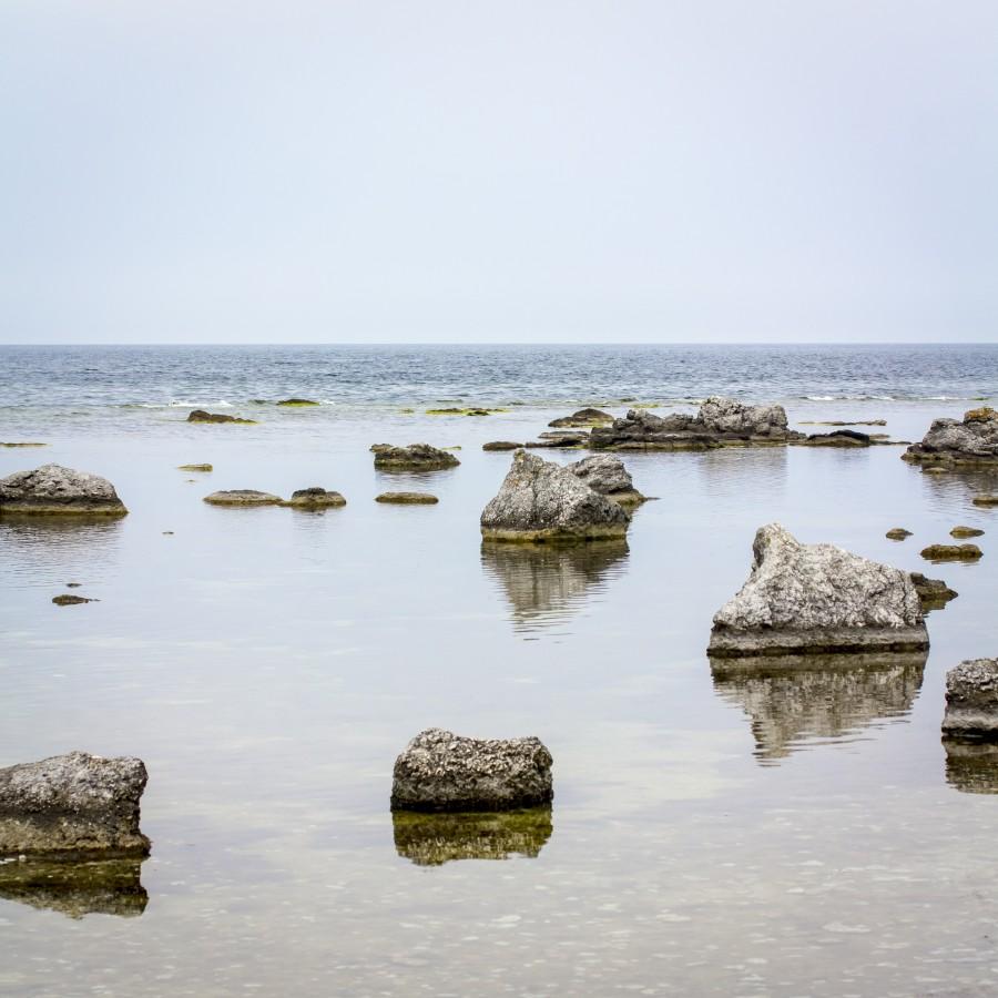 ...noe stein uti vannet...
